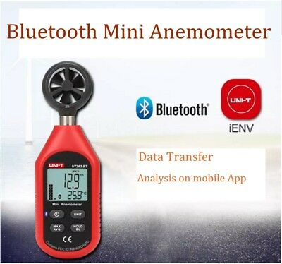 UNI-T UT363BT Digital Bluetooth Anemometer Wind Speed Meter Thermometer 0-45m/s