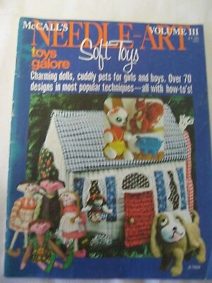 McCALLS NEEDLE ART SOFT TOYS DOLL PET GIRL BOY 70 PATTERNS KNIT SEW CROCHET FELT