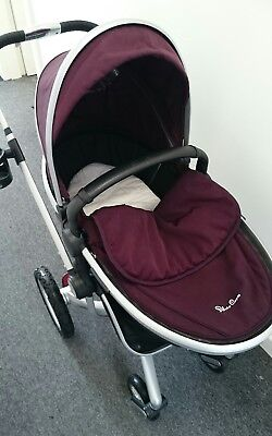 Silver Cross Surf PLUM INC CARRYCOT CARSEAT  COMPLETE TRAVEL, Free Tracked Post