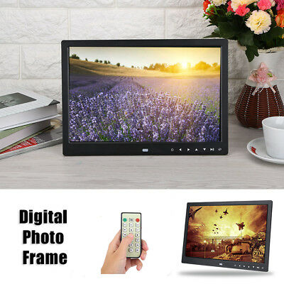 """15""""inch HD LED Digital Photo Picture Frame Clock Movie MP4 Player Remote Control"""