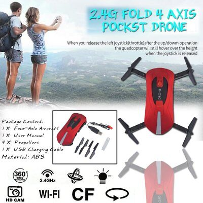 JY018 Mini Dron Foldable WiFi HD FPV Camera&Quadcopter Selfie Drone RC DronesRED