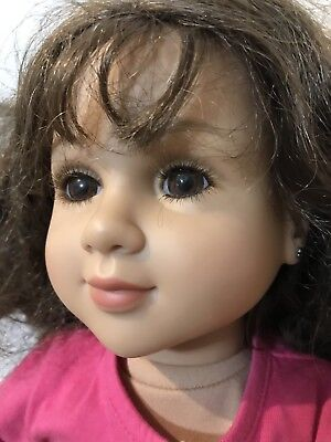 "My Twinn Doll 23"" Poseable Kissy Kate Brown Hair Hazel? Eyes 2009 Distressed"