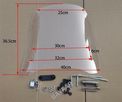 Scooter Windshield / Windscreen (2.5mm thick, Acrylic/PMMA material)