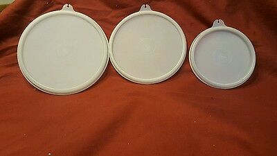 """Tupperware Container Lid Seal Round sheer 227 6.5"""" 238 5.75"""" 215 4.5"""""""