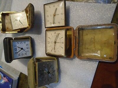 Vintage  Travel Clocks Movement Spares Or Repairs smiths europa