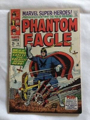 Marvel Super-Heroes #16 Presenting Phantom Eagle Marvel 1968
