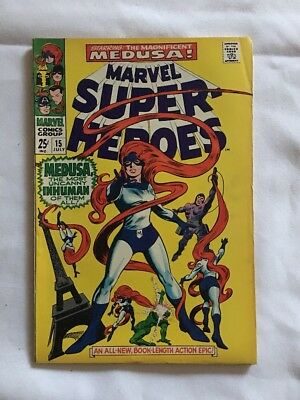Marvel Super-Heroes #15 Starting Medusa Marvel 1968