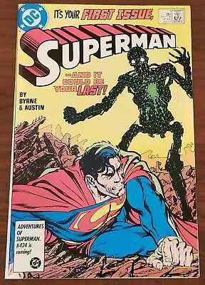 """Superman Comic Book  January 87  """"It's Your First Issue Superman"""""""
