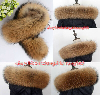 Natural Genuine 100% Real Fur Collar scarf trim for Women Down Jacket Hood Scarf