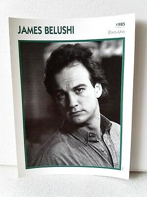 JAMES BELUSHI 1985 Actor Movie FRENCH ATLAS PHOTO BIO CARD