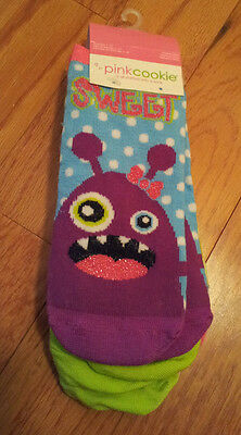 Girls-Size-4-10-Low-Cut-Socks-4-Pair-Pack-Mixed-Patterns-Sweet-Cute-Sassy-Ugh