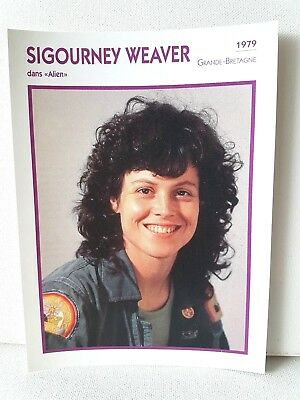 SIGOURNEY WEAVER 1979 Actor Movie FRENCH ATLAS PHOTO BIO CARD Alien