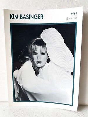 KIM BASINGER 1985 Actor Movie FRENCH ATLAS PHOTO BIO CARD