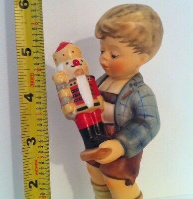"RARE  • 6"" TALL NUTCRACKER SWEET CHRISTMAS Hummel 1ST Goebel Porcelain Figurine"