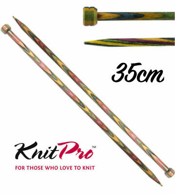 KnitPro Symfonie Wood Straight / Single Point Knitting Needles - 35cm Length