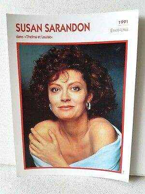 SUSAN SARANDON 1991 Actor Movie FRENCH ATLAS PHOTO BIO CARD Thelma and Louise
