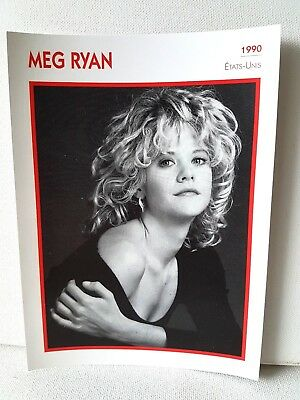 MEG RYAN 1990 Actor Movie FRENCH ATLAS PHOTO BIO CARD