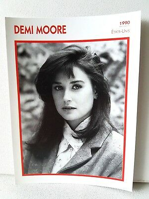 DEMI MOORE 1990 Actor Movie FRENCH ATLAS PHOTO BIO CARD