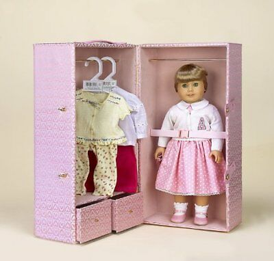 "Pink Hearts Doll Trunk for 18"" American Girl® and Similar Dolls"