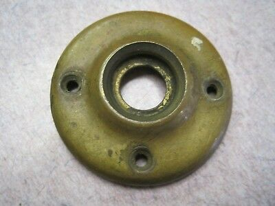OLD pressed   BRASS   2 1/16 DOOR KNOB ROSETTE ESCUTCHEON NICE # 2