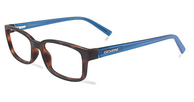 Converse eyeglasses Q043 in Matte Tortoise with Blue Temples 55mm
