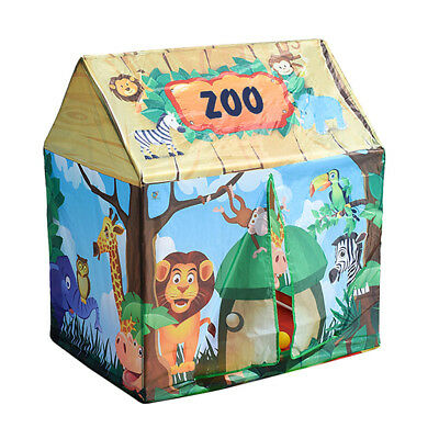 Kids Children Forest House Themed Playhouse Indoor Outdoor Pop Up Play Tent