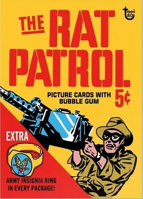 2018 Topps 80th Anniversary Wrapper Art Card #78 - 1966 Rat Patrol