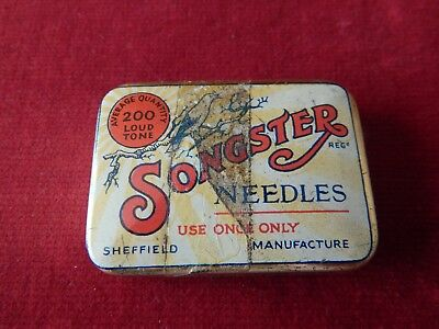 Old Tin Of Songster Needles Loud Tone For Electrical Records Gramophone
