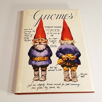Gnomes by Wil Huygen Rien Poortvliet 1977 Hardcover Dust Jacket