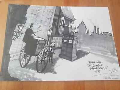 Signed Robert Whitelock Amazing Dr Who Artwork Charity Talons Of Weng Chiang