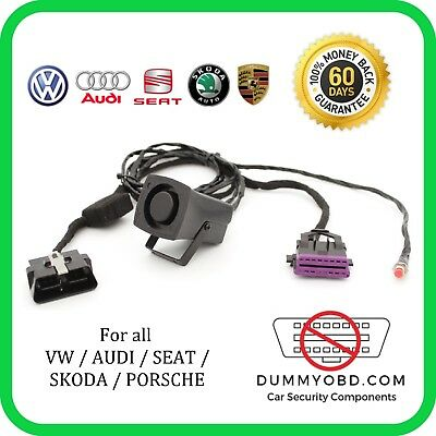 VW AUDI SKODA DUMMY FAKE OBD PORT Anti Theft Security OBD Guard LOCK