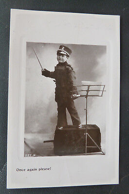 "Real Photo - Boy Conductor ""Once again please""-Davidson Bros"