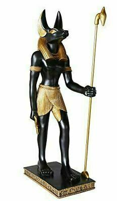 "Large 20""H Anubis Statue Indoor Furniture Figurine Egyptian Decor"