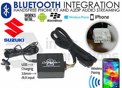 Suzuki Bluetooth music streaming handsfree calls for PACR01 PACR02 PACR03 PACR04