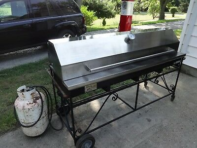 Big John Portable Bbq Grill Party Size Barbecue  Lazy Man Grill / Broiler