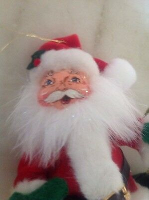 Annalee Vintage Santa With Gift Sack Hanging Ornament 2005 NWT