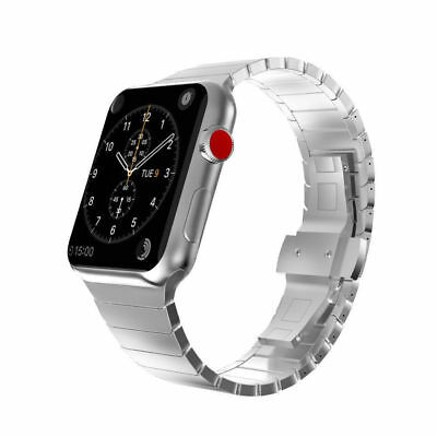 For Apple Watch Series 4 3 2 42/44mm Stainless Steel Butterfly Watch band Strap