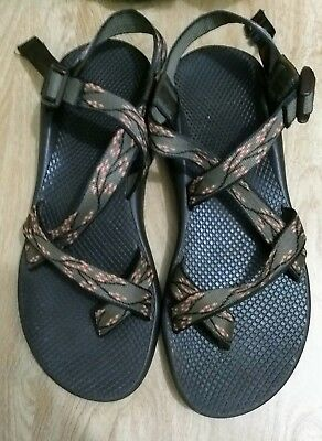 e776032f520319 Women s Brown Green Pink Cherry Blossom Chaco Hiking Outdoor Sandals 12 EUC