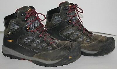 KEEN Dry Waterproof Work Boots M I/75 C/75 EH Mens size 12 Black/Gray