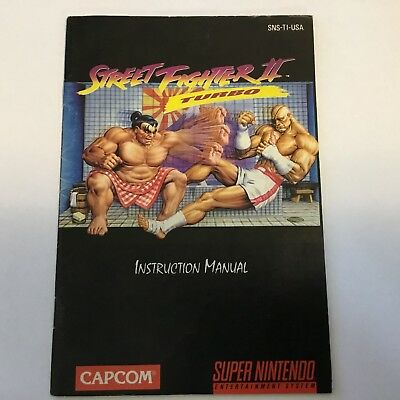 Street Fighter II 2 Turbo SNES Super Nintendo MANUAL ONLY! Instruction Booklet!