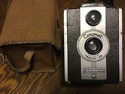 CORONET Co TWELVE-20 ANTIQUE BOX BROWNIE Vintage Camera - early 1950s ENGLAND