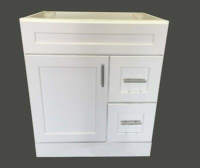 NEW WHITE SHAKER Single-sink Bathroom Vanity Base Cabinet 30