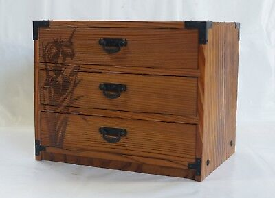 Japanese Wooden Box with Drawers