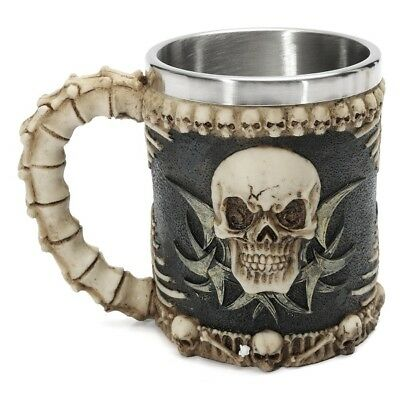 Honana Skull And Bones Fiendish 3D Tankard Mug Drinking Cup Coffee Beer Pirate