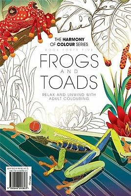 Harmony of Colour Book 45 Frogs and Toads Colouring Book 36 Designs NEW