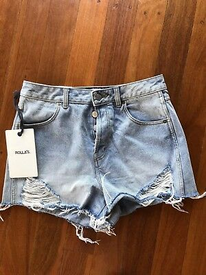 Rollas Denim Blue Shorts - 30