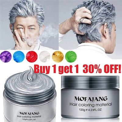 Unisex DIY Hair Color Wax Mud Dye Cream Temporary Modeling 7 Colors MOFAJANG USA