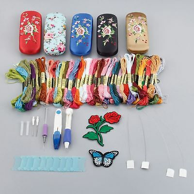 Magic Embroidery Pen Punch Needles Stitching Craft Tool with Box 50 Color Thread