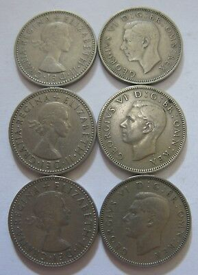 Lot of 1 Shilling Coins From the United Kingdom