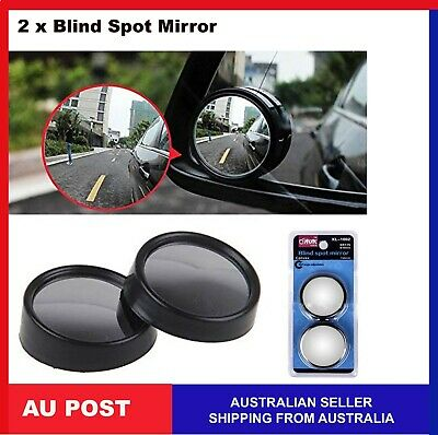2 Blind Spot Mirror hd Glass Wide Angle 360° Convex Mirrors Rear View blindspot